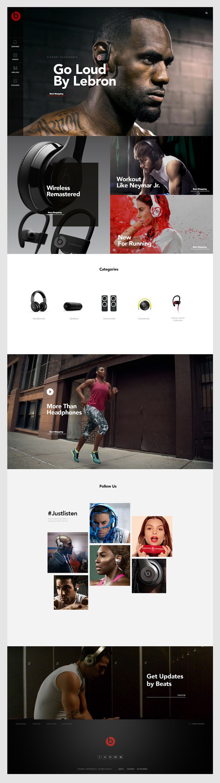 다음 @Behance 프로젝트 확인: \u201cBeats by Dre website\u201d https://www.behance.net/gallery/47198195/Beats-by-Dre-website