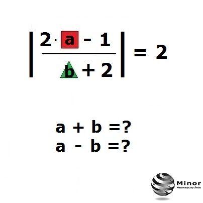 Oblicz:  a+b=?  a-b=?