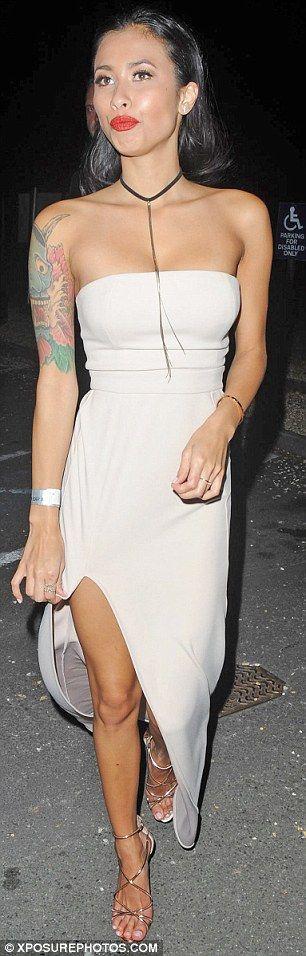 Finalist: Evelyn Ellis looked ladylike in a nude dress