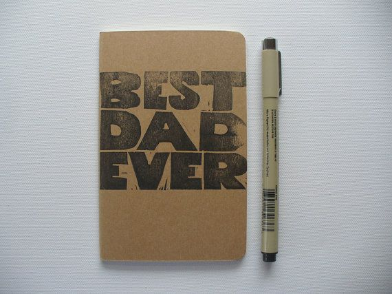 moleskine notebook  best dad ever fathers day by MessyBedStudio, $12.00