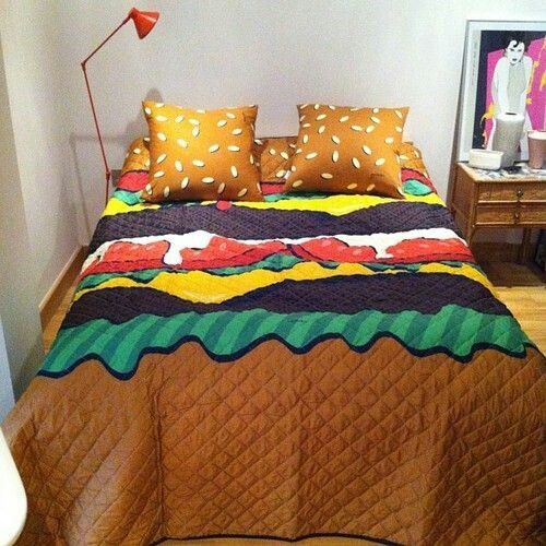 Hamburger Bed Sheets Barbie S Dream House Pinterest