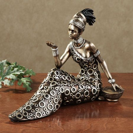 Beckon Masai African Woman Figurine