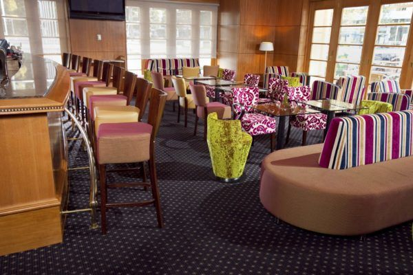 Duxton Hotel Lobby Bar | Furniture Options. Martini Deluxe Stools with custom made Hover Lounge.