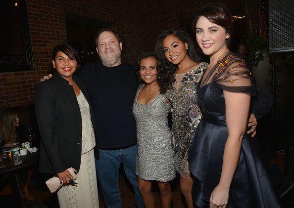 "Jessica Mauboy Photos Photos - (L-R) Deborah Mailman, Harvey Weinstein, Miranda Tapsell, Jessica Mauboy and Shari Sebbens attend ""The Sapphires"" screening at The Paris Theatre on March 13, 2013 in New York City. - 'The Sapphires' Screening in NYC"