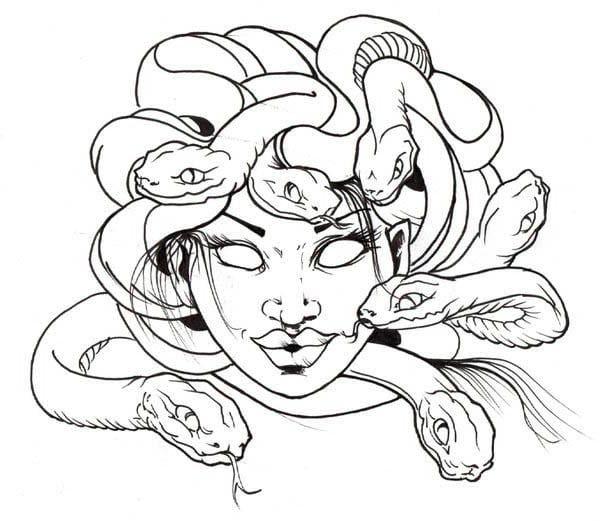 Medusa Coloring Pages Medusa Drawing Medusa Artwork Mermaid Drawings