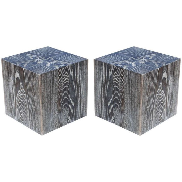 1000 images about cerused oak on pinterest modern for Cube side table
