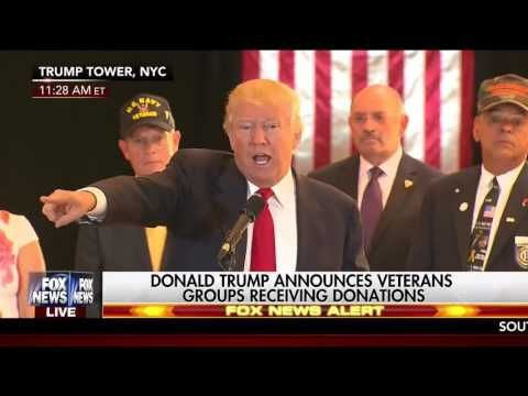 Trump Goes After ABC Reporter in Middle of Press Conference on Veteran Donations: 'You're a Sleaze' | Video | TheBlaze.com IT is a valid question, where's ALL the money you raised TRUMP? It didn't make it to the veterans.