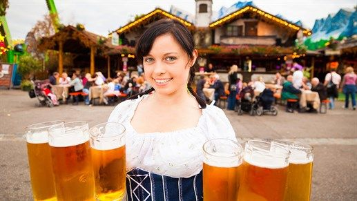 Places to visit in 2016: Munich during Octoberfest. The party kicks of September 17th 2016. There will be a good mix of beer, girls in cute dresses and macho men in lederhosen #kilroy #germany #octoberfest #beermaiden #pints #beer #party #europe