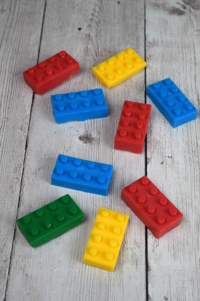 Homemade Primary Lego Soap