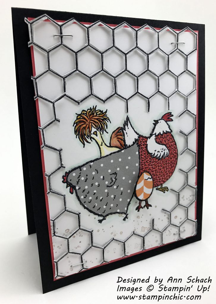 Stampin' Up!'s Hey, Chick stamp set, a Sale-a-Bration freebie, is used to create a cute card for the Stamp Review Crew Blog Hop.