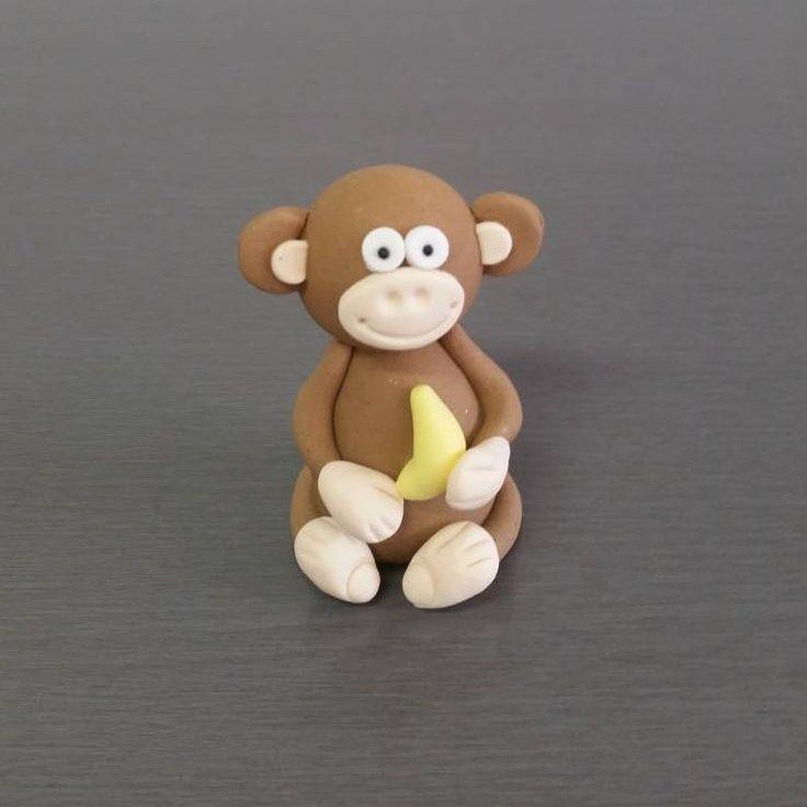 Monkey Cake Topper, Fondant monkey
