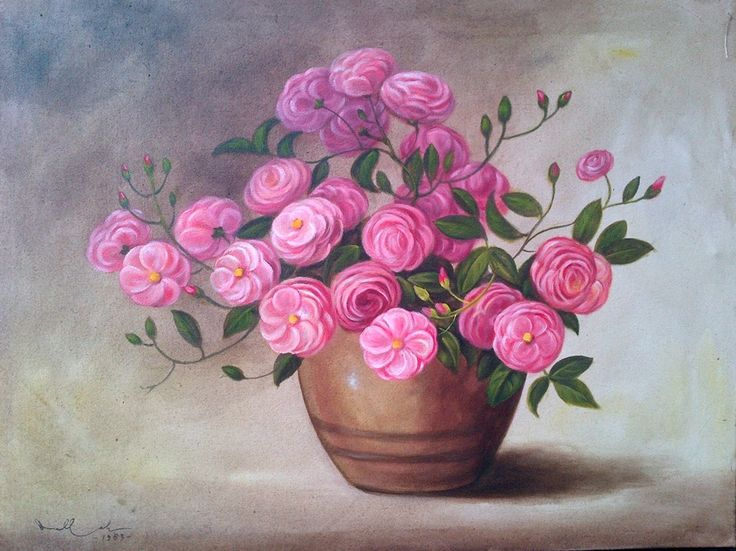 For sale | Rose, oil on canvas, 60x80 cm | call/WA : +6287838671118