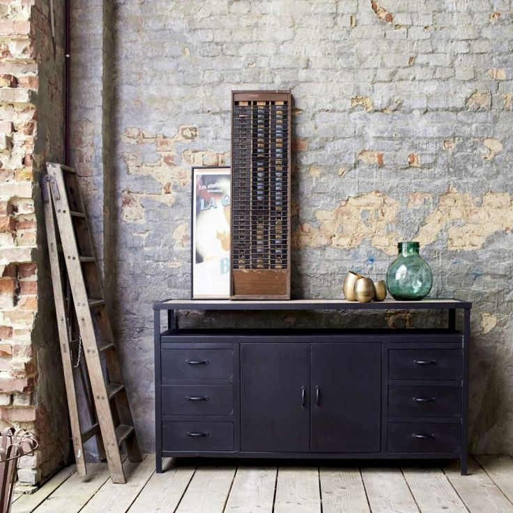 1000 id es sur le th me commode m tallique sur pinterest. Black Bedroom Furniture Sets. Home Design Ideas