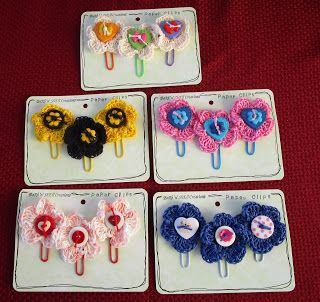 BaRb'n'ShEllcreations - Crocheted Paper clips - made byShell