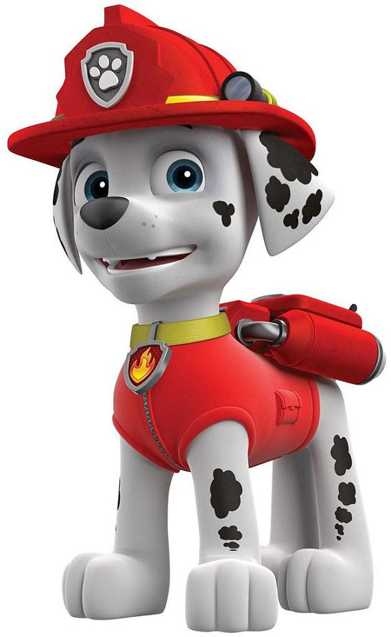 Paw Patrol Marshall the Fire Dog Iron on by DesignsByBrinley