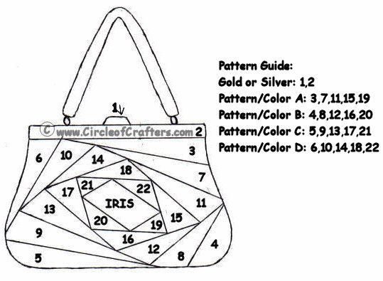 Iris Folding @ CircleOfCrafters.com: Handbag Pattern