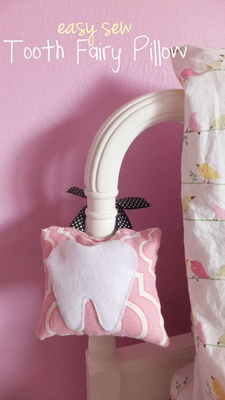Tooth Shaped Tooth Fairy Pillow