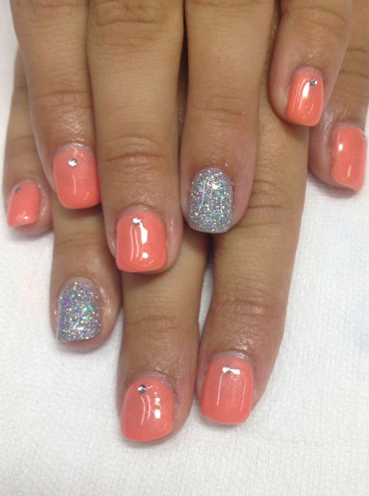 1000+ Ideas About Coral Gel Nails On Pinterest