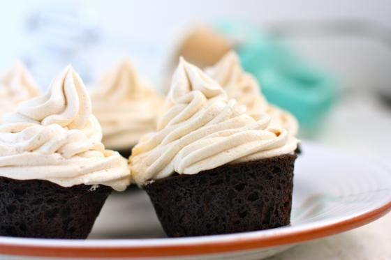 Vegan Chocolate Cupcakes with Chai Butter cream - no out of the ordinary ingredients