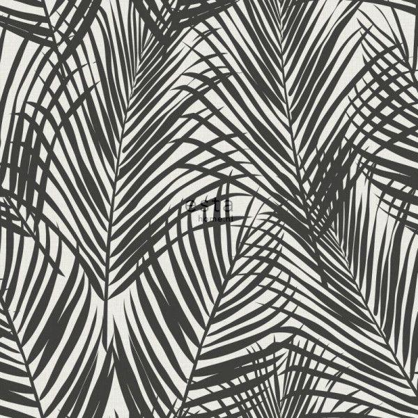 Papier Peint Feuilles De Palmier Noir Et Blanc Papier Peint Jungle Motifs Estahome En 2020 Feuille Palmier Papier Peint Fond D Ecran Noir Et Blanc