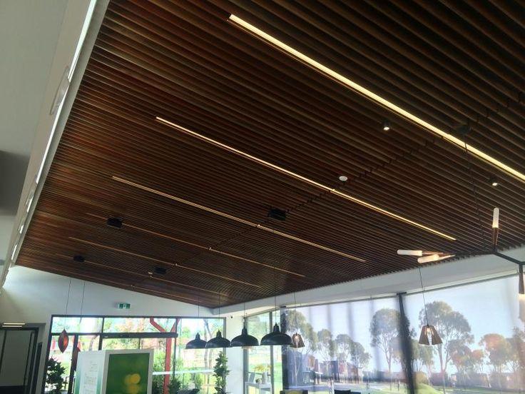 Acoustic slats acoustics pinterest products and acoustic - Wood slat ceiling system ...