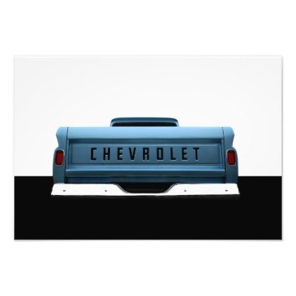 1965 Chevy C-10 Pickup - high contrast Photo Print - classic gifts gift ideas diy custom unique