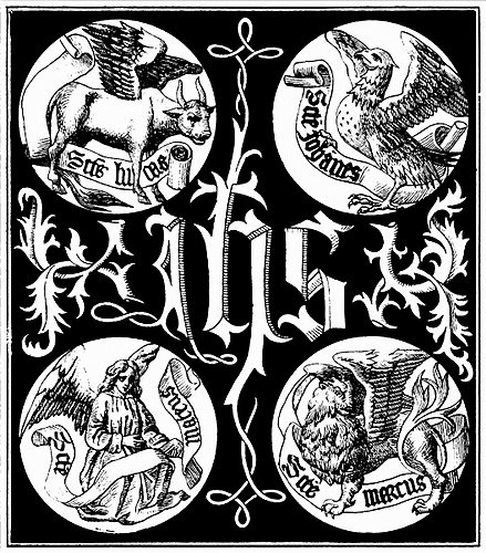 """Free images, """"Sacred Monogram and Badges of the Apostles"""""""