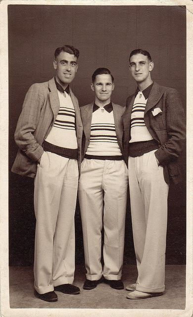 Three young men, Yarmouth, UK, August 1937   Flickr - Photo Sharing!