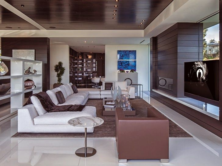This incredible modern mansion is definition of perfection. Take a look! Luxury modern homes, Modern mansion interior and Mansion