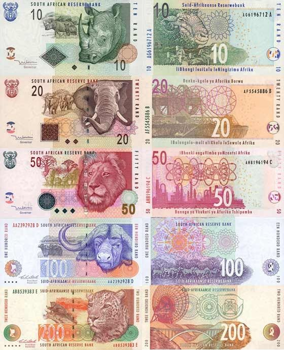 South African Rand Currency Feauturing The Big 5