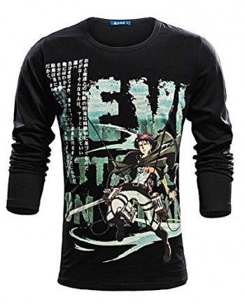attack on titan anime rivaille costume long sleeve t shirt asian size animeteeshirts com