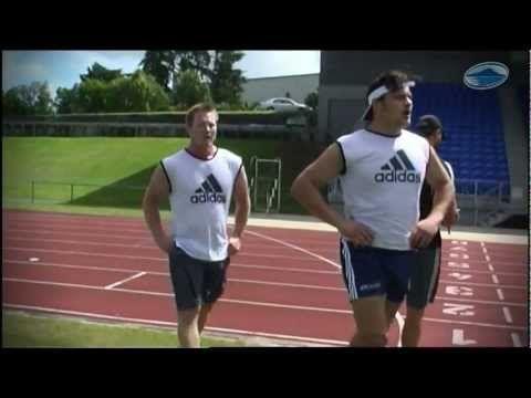 Blues pre-season training: 5 x 1km intervals at Waitakere Stadium