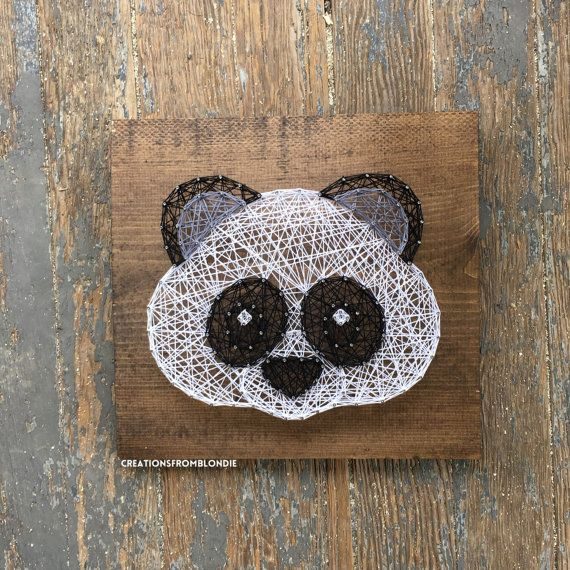 MADE TO ORDER Panda String Art Sign by CreationsFromBlondie