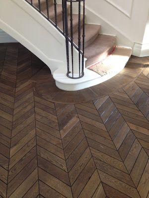 Chevron parquet/Fumed, stained and oiled - CANTERBURY