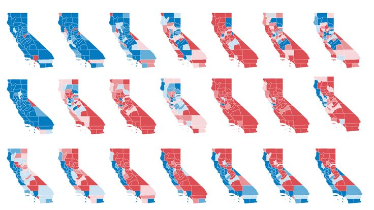 California hasn't always been a lock for the Democratic presidential nominee. Republicans won the state in nearly every presidential election between 1952 and 1988. Ahead of an election that could see more blue in the Golden State than ever before, here's a look at how Democrats gained, lost and won back California.