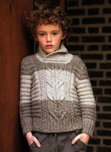 Рельефный свитер и шапка для папы и сына!