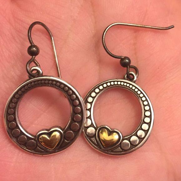 Brighton earrings Used Brighton earrings / has tarnishing / need a cleaning / Brighton Jewelry Earrings