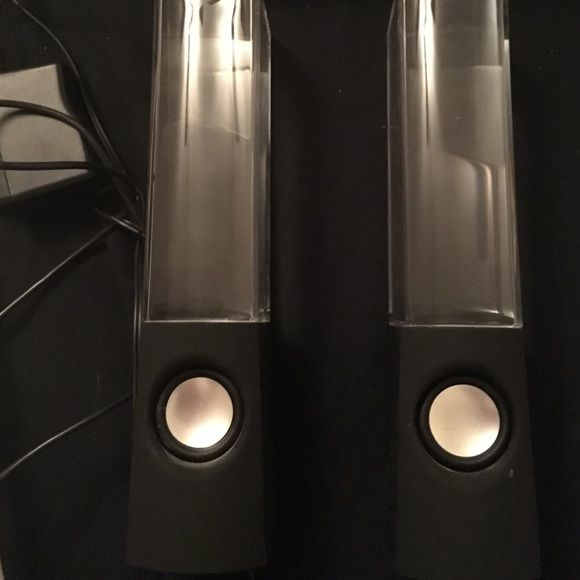 WATER SPEAKERS Multicolored water speakers perfect condition. w/o aux cord Other