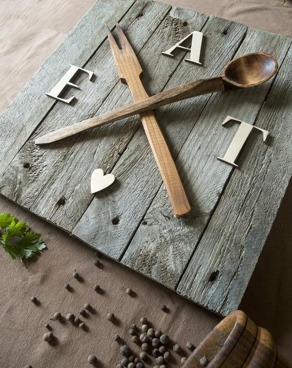 Eat Sign Pallet Sign Foodie Gift Newlywed Gift Pallet Wall ...