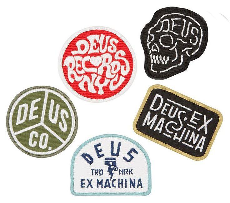 Deus Ex Machina Patches Patch Pack Three Set Of 5 Patches Badge Design Logo Design Collection Logo Design