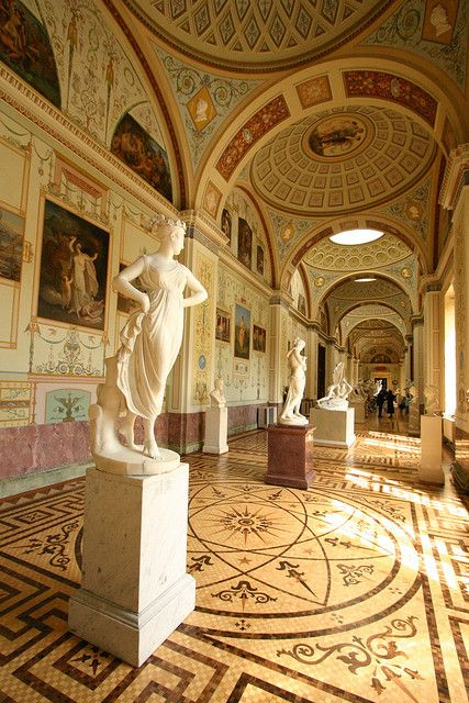 """THE WINTER PALACE Now The Hermitage State Museum, St. Petersburg, Russia. """"Gallery of the History of Ancient Painting"""""""