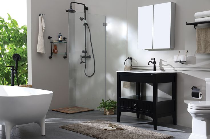 See how vintage series fit in a stylish bathroom