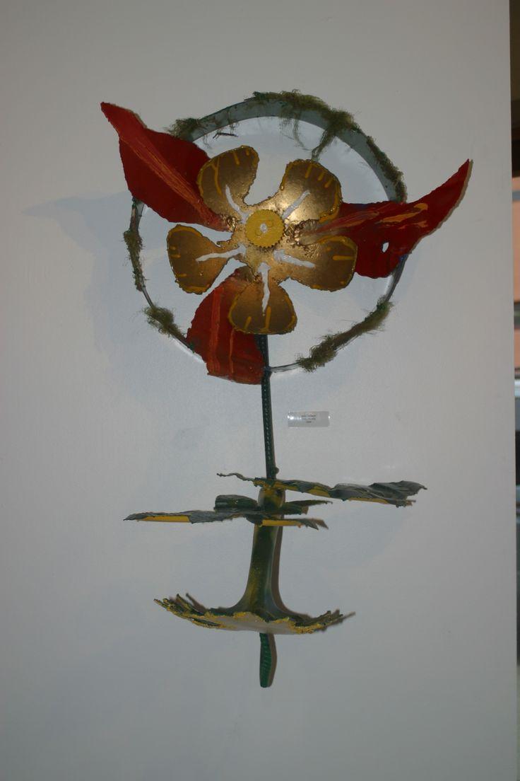 metal wall hanging,  sold