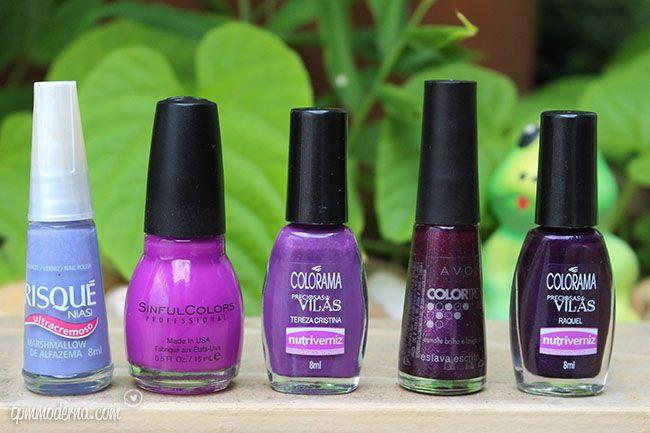 Top 5: Meus esmaltes roxos preferidos    por Dai Cravo | Tpm moderna       - http://modatrade.com.br/top-5-meus-esmaltes-roxos-preferidos