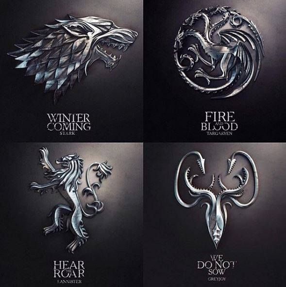What's your favorite sigil in the series? ⚔️ Check out our Game of Thrones Merch Store: https://thinkgot.com    #winteriscoming #gameofthrones #GoT #gameofthronesfamily #jonsnow #instalike #f4f #like #gameofthroneshbo #gameofthronesfan #gameofthronesmemes #westeros #got7 #khaleesi #housestark #nightswatch #youknownothingjonsnow #asongoficeandfire #stark #lannister #daenerystargaryen #targaryen #daenerys #sansastark #tyrionlannister #motherofdragons #housestark #winterfell #jaimelannister
