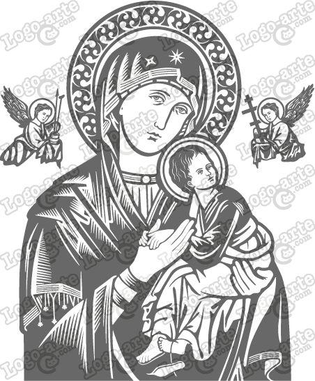 A imagem vetorizada de Nossa Senhora do Perpétuo Socorro.