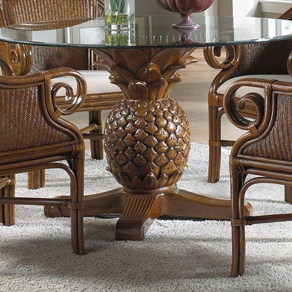 Wicker Kitchen Table: Hospitality Rattan 307-3365-TCA Sunset Reef Indoor Wicker