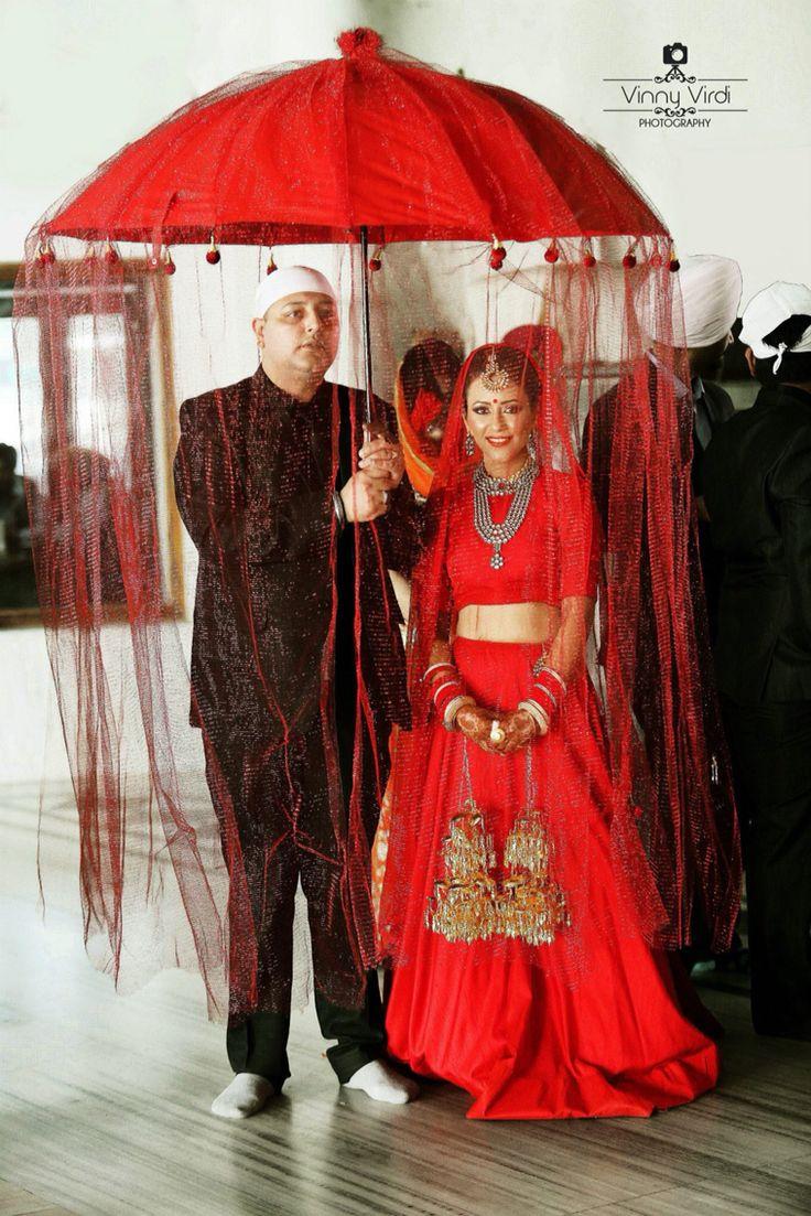 Teenm Panesar Red Wedding Umbrella