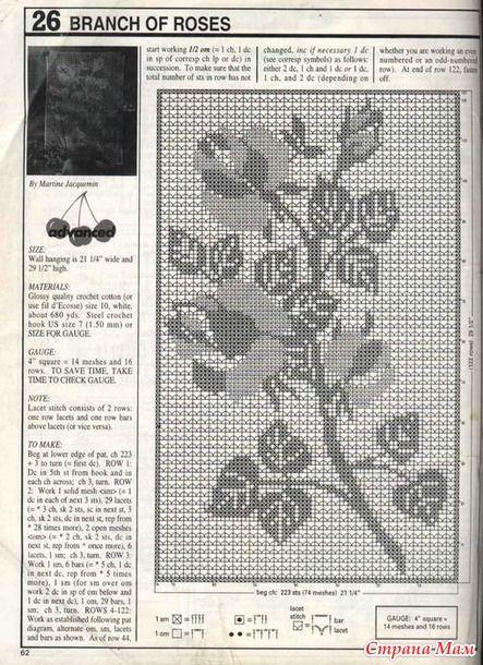 Филейные розы