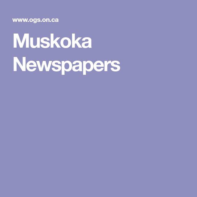 Muskoka Newspapers